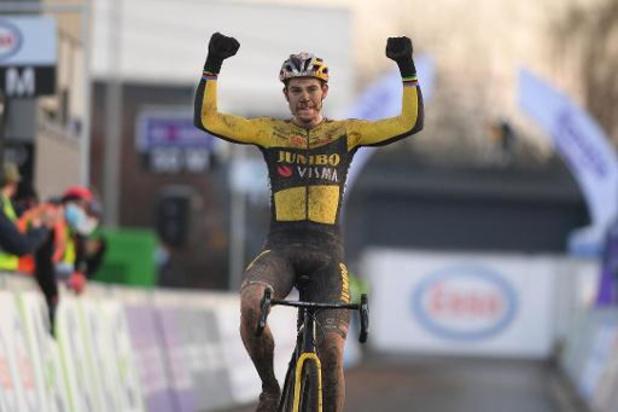 Wout van Aert champion de Belgique de cyclocross pour la 4e fois