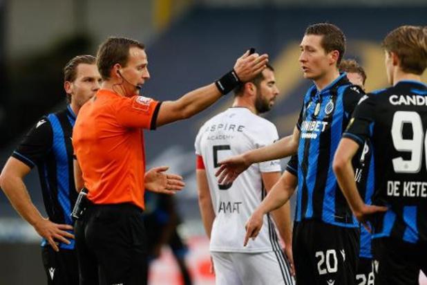 Le Comité disciplinaire de football confirme les quatre matches de suspension d'Hans Vanaken