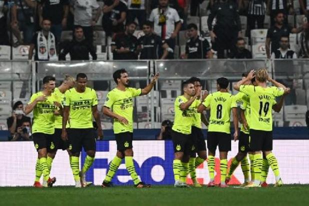 Ligue des Champions - Dortmund s'impose 1-2 à Besiktas avec un assist de Meunier