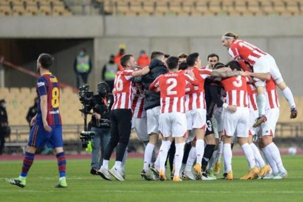 La Liga - L'Athletic Bilbao bat le Barça et remporte sa 3e Supercoupe, 1er carton rouge pour Messi