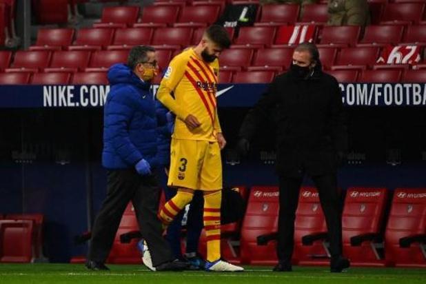 Piqué (Barcelone) touché aux croisés du genou droit, Sergi Roberto out deux mois
