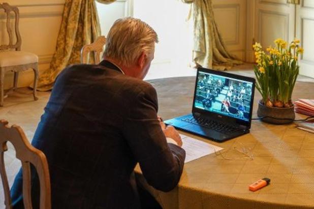 Coronavirus - Le roi Philippe en conversation Skype avec des chercheurs de la KULeuven
