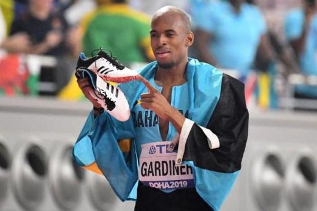 WK atletiek - Bahamaan Steven Gardiner verovert wereldtitel 400m