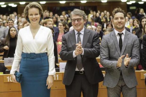 Koningin Mathilde opent conferentie over kinderrechten in Europees Parlement