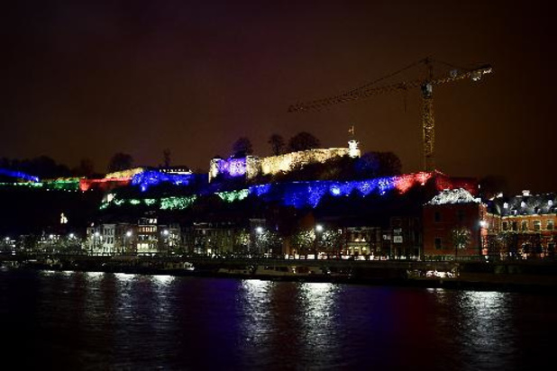 Coronavirus - La Citadelle de Namur illuminée pour célébrer et soutenir la Francophonie