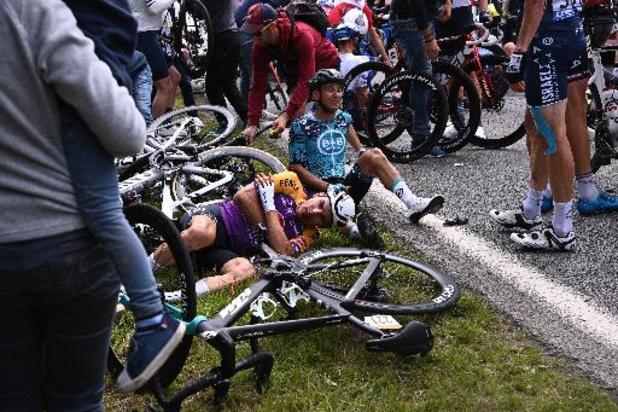 Pas de blessés dans le public après les deux chutes de la 1re étape
