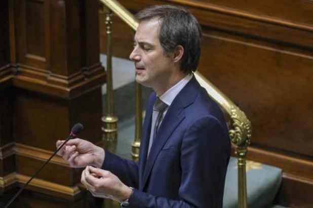 De Croo appelle à dépasser le clivage majorité-opposition sur la loi pandémie