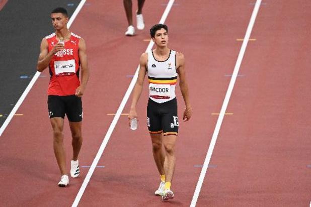 Fin du parcours en demi-finale pour Jonathan Sacoor sur 400 m