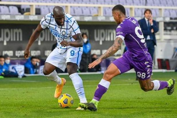 Lukaku bezorgt Inter winst in verlengingen van Italiaanse beker bij Fiorentina
