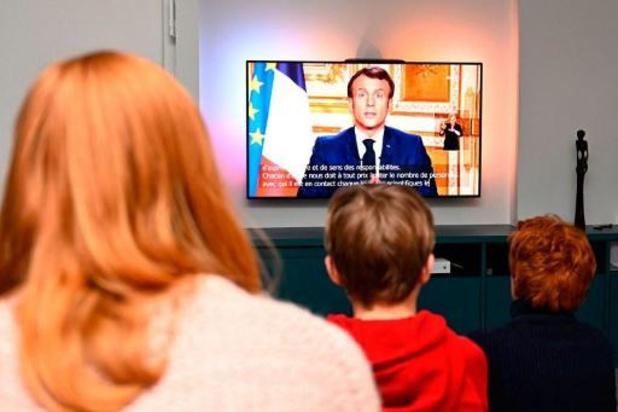 France: 35,3 millions de téléspectateurs, record absolu, pour l'allocution de Macron