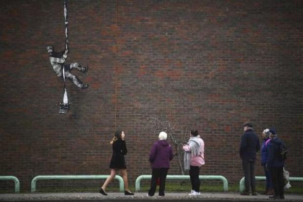 Graffitikunstenaar Banksy claimt nieuw kunstwerk in video