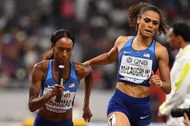 """Athlétisme: """"Nous nous rendons meilleures"""" avec Muhammad, estime McLaughlin"""
