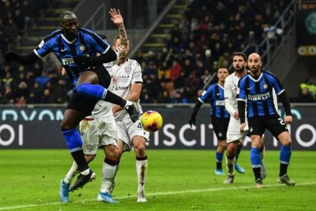 Les Belges à l'étranger - L'Inter Milan, avec un doublé de Lukaku, écarte facilement Cagliari et Nainggolan