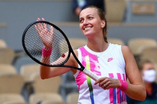 Petra Kvitova dans le dernier carré de Roland-Garros