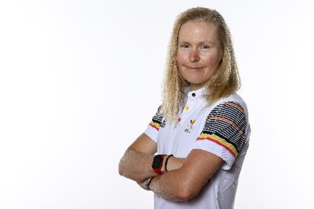 OS 2020 - Olympische deelname mountainbikester Githa Michiels op de helling, na val in Leogang