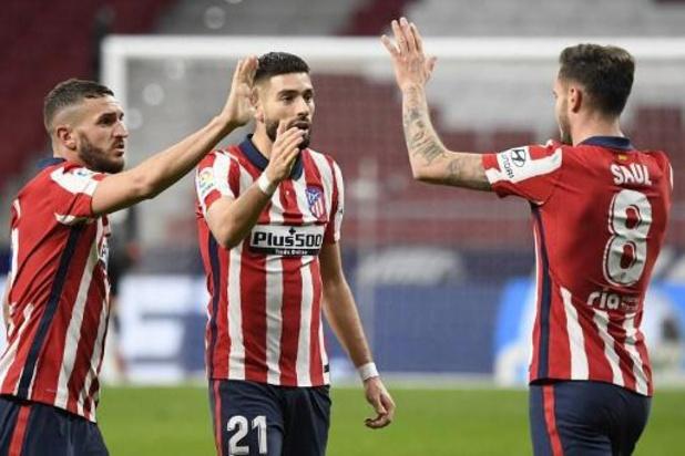 Les Belges à l'étranger - Quinzième victoire en dix-huit journées pour l'Atlético Madrid