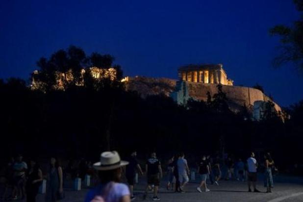 Akropolis Athene weer open na versoepeling coronamaatregelen