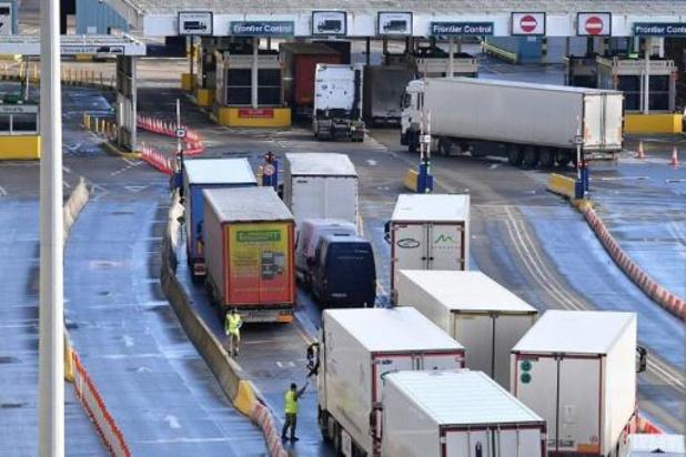 Belgische truckers in Dover mogen Kerst thuis wellicht vergeten