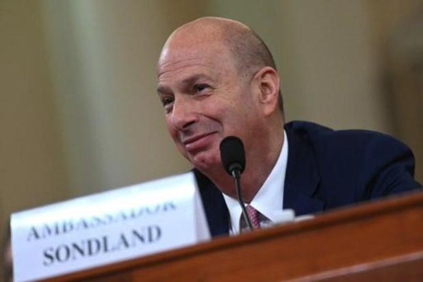 Sondland n'a jamais entendu Trump conditionner l'aide à l'Ukraine aux enquêtes politiques