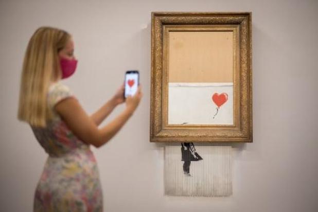 La toile auto-détruite de Banksy revient aux enchères en octobre