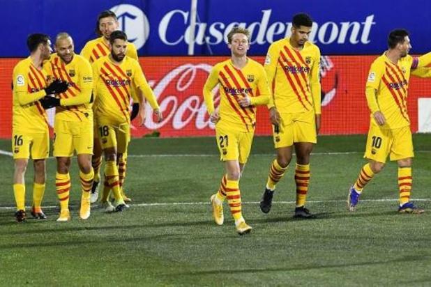 La Liga - Barcelone s'impose par le plus petit écart à Huesca pour le 500e match en Liga de Messi