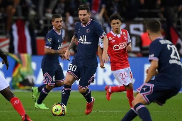 Thomas Foket et Wout Faes (Reims) assistent aux débuts de Messi avec le PSG