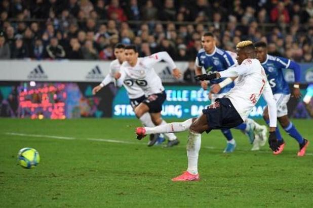 Les Belges à l'étranger - Un penalty d'Osimhen offre la victoire à Lille sur la pelouse de Strasbourg