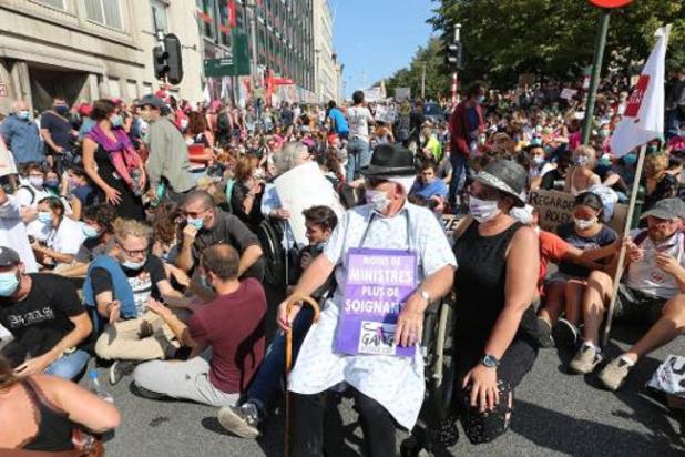 Politie telt 4.000 betogers uit gezondsheidszorg