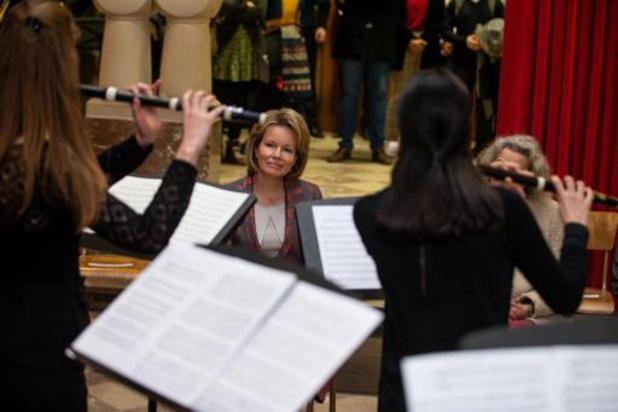 Koningin Mathilde bezoekt Koninklijk Conservatorium van Brussel