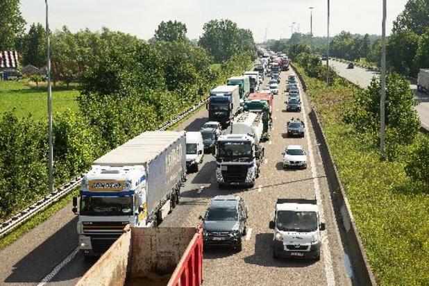 Filedruk op Vlaamse snelwegen nog steeds derde onder niveau van voor coronacrisis