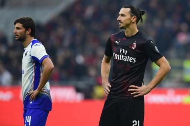 L'AC Milan partage 0-0 pour le retour de Zlatan Ibrahimovic