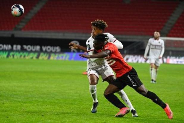 Les Belges à l'étranger - Rennes, avec Jérémy Doku, battu à domicile par Nice