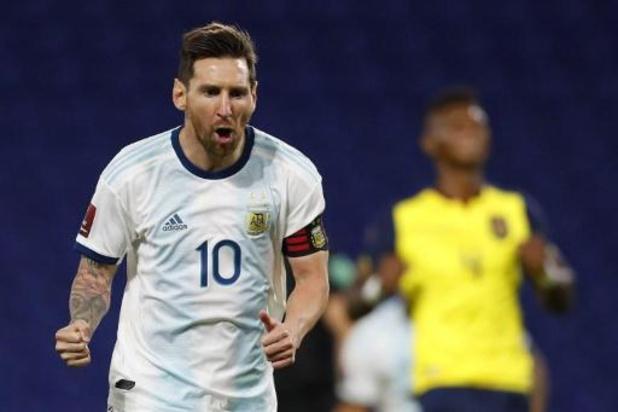 Messi bezorgt Argentinië overwinning in eerste kwalificatiematch