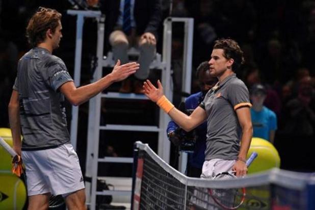 ATP Finals - Dominic Thiem voorbij titelverdediger Alexander Zverev naar finale