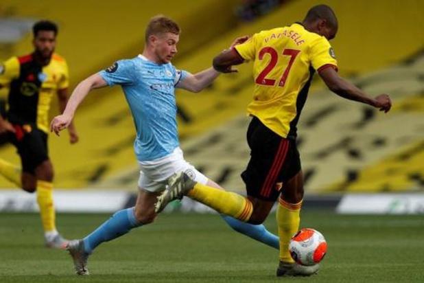 Les Belges à l'étranger - Manchester City enfonce Watford et Kabasele, De Bruyne bat son record de passes décisives