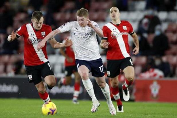 Les Belges à l'étranger - Manchester City profite d'un assist de De Bruyne et s'impose à Southampton