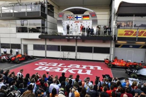 Formule 1 : le GP d'Azerbaïdjan lui aussi reporté