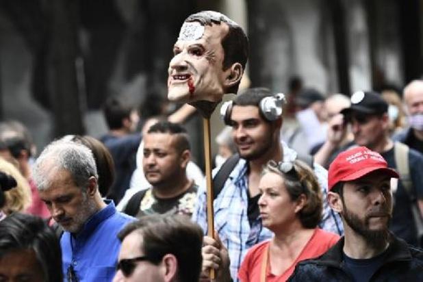 Ruim 200 betogingen tegen covidcertificaat in Frankrijk