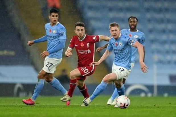 Les Belges à l'étranger - Match nul entre City et Liverpool, passe décisive et penalty raté pour De Bruyne