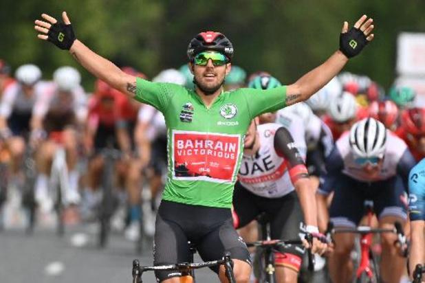 Colbrelli sprint naar zege in 3e rit, Pöstlberger blijft nipt leider