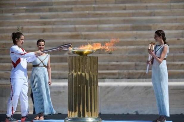 Olympische vlam is op weg naar Tokio