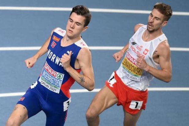 EK atletiek indoor - Diskwalificatie voor Ingebrigtsen, goud gaat naar Lewandowski