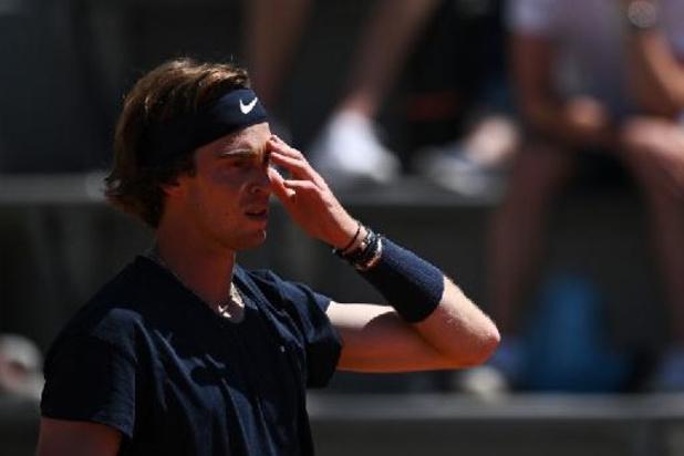 Andrey Rublev overleeft eerste ronde Roland Garros niet