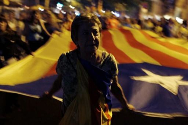 Crise en Catalogne - Manifestations des séparatistes catalans deux ans après le référendum interdit