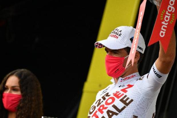 """Van Avermaet krijgt na zijn vlucht de Strijdlust: """"Mooi om eens op het podium te staan"""""""