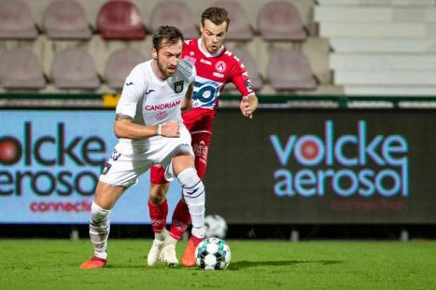 Jupiler Pro League - Anderlecht a décroché sa quatrième victoire de la saison à Courtrai
