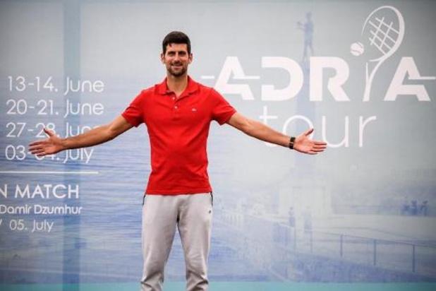 Djokovic remporte son premier match de l'Adria Tour devant des tribunes combles