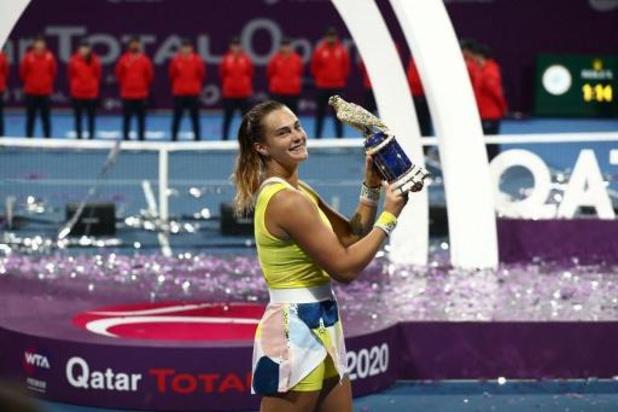 WTA Doha - Sabalenka verslaat Kvitova in finale