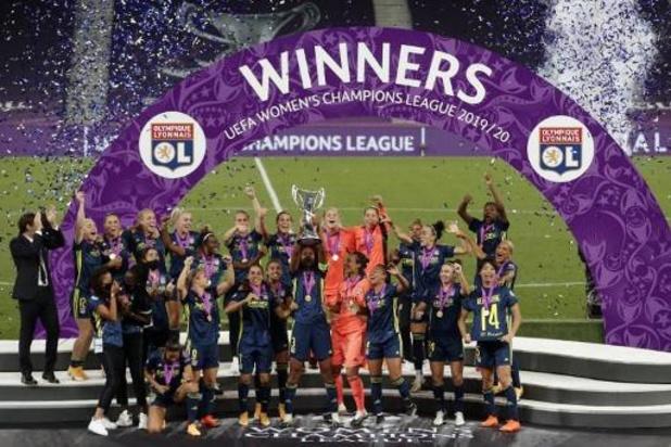 Belgen in het buitenland - Olympique Lyon wint Champions League bij de vrouwen voor de vijfde keer op rij