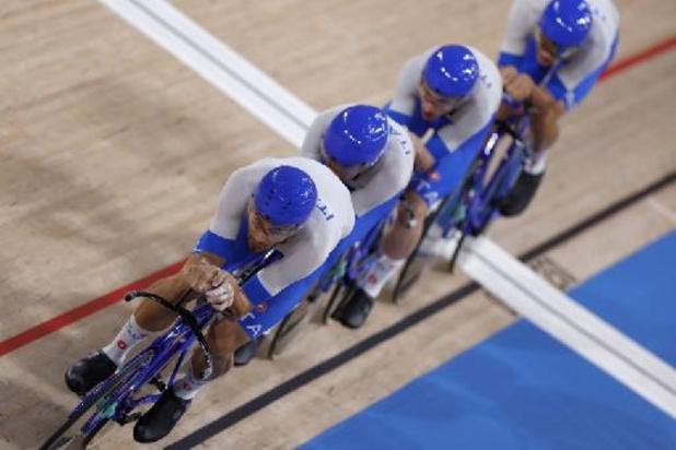 L'or et un nouveau record du monde pour l'Italie en poursuite par équipe messieurs